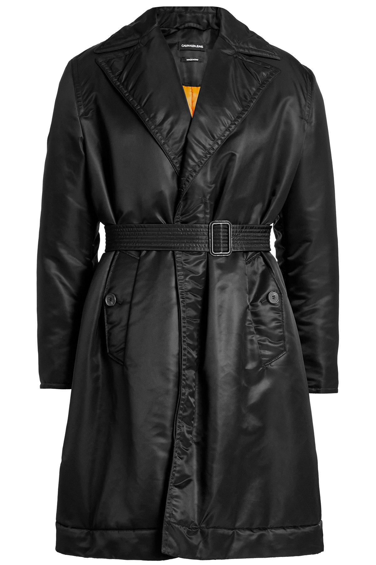 Calvin Klein 205W39Nyc Trench Coat With Filling In Black