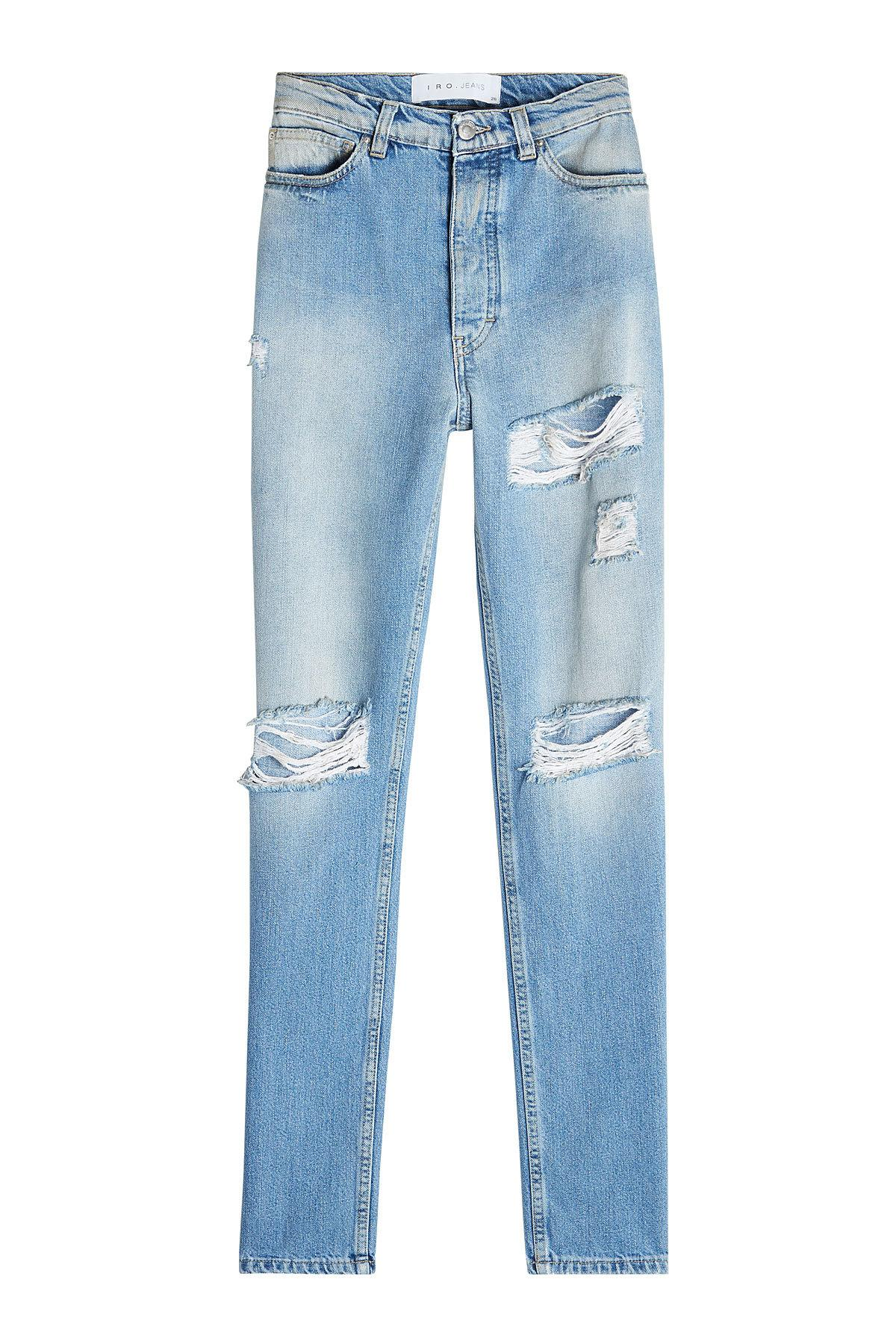 Iro Distressed Skinny Jeans In Blue
