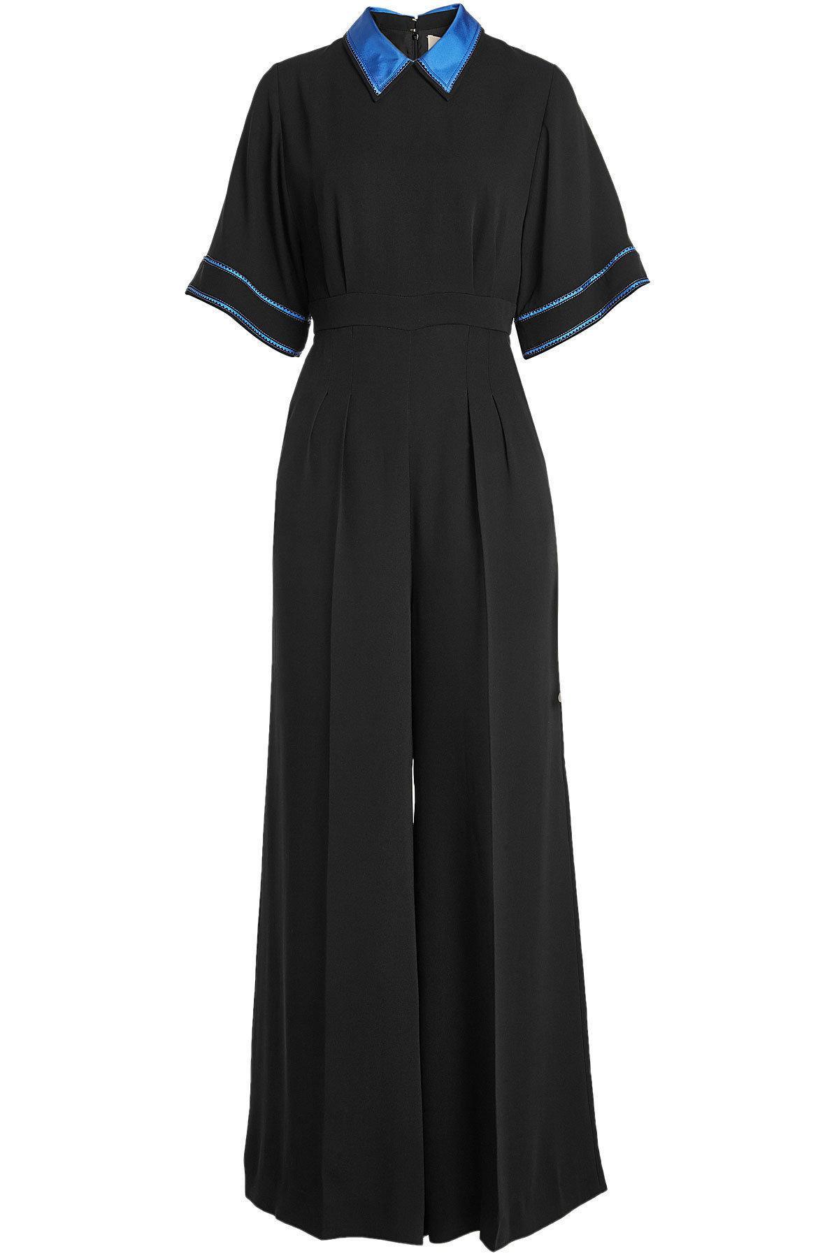 Roksanda Silk Jumpsuit In Black