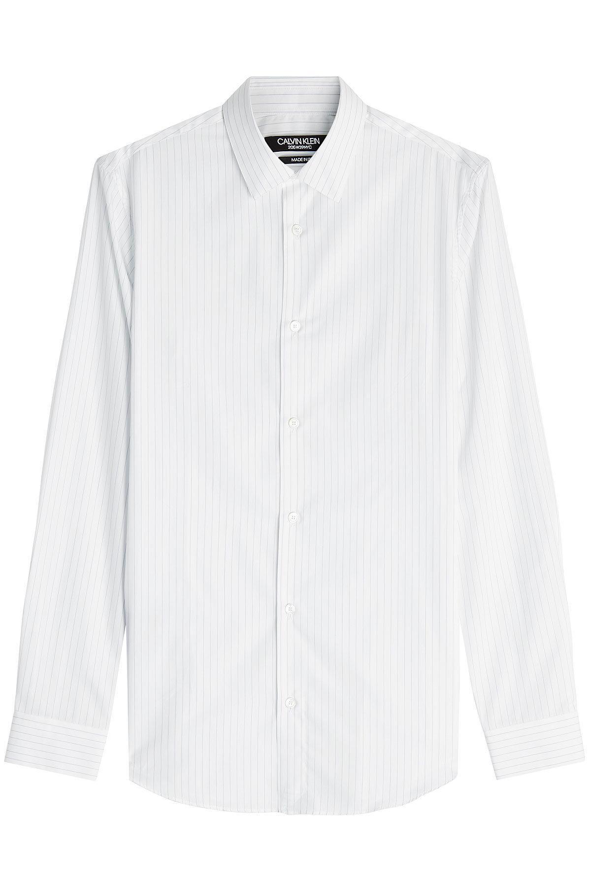 Calvin Klein 205W39Nyc Striped Cotton Shirt In White