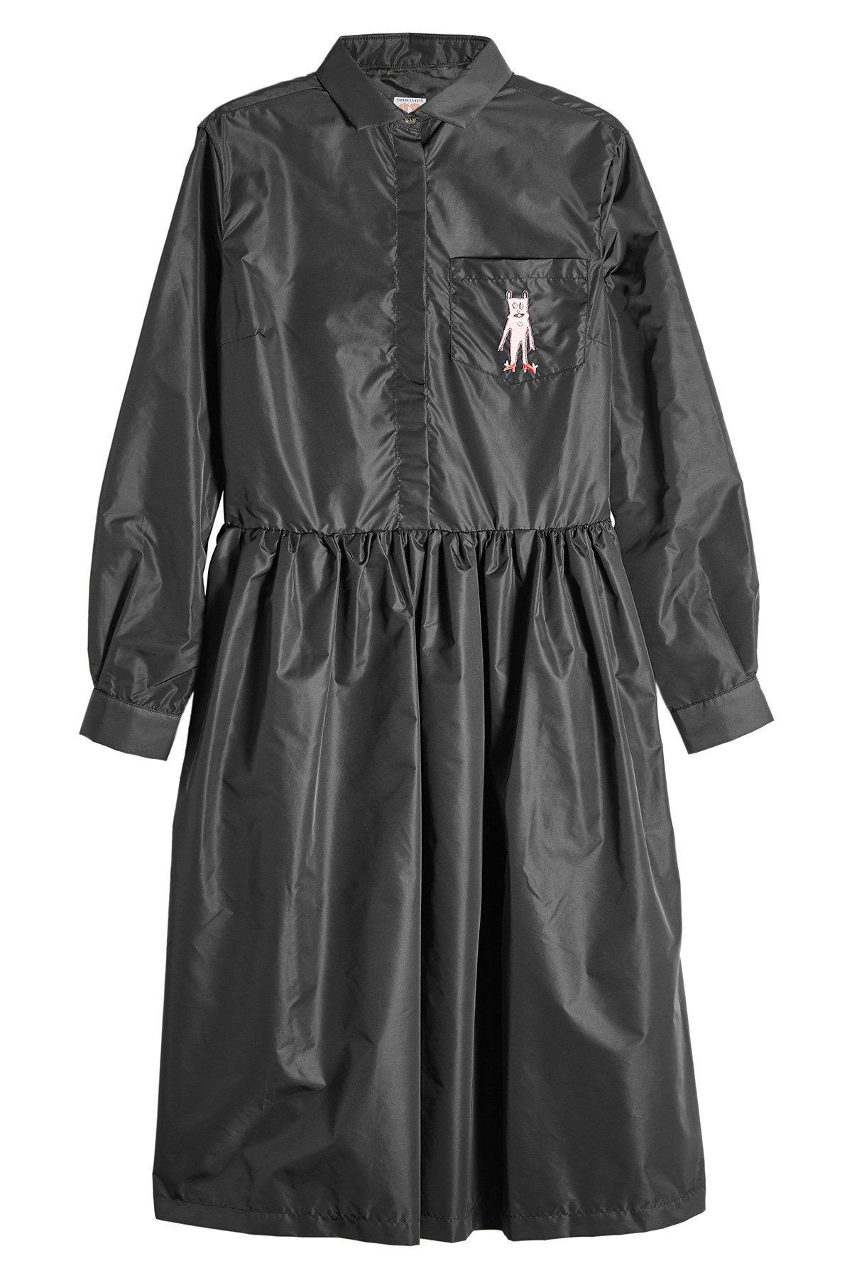 Shrimps Shirt Dress In Black