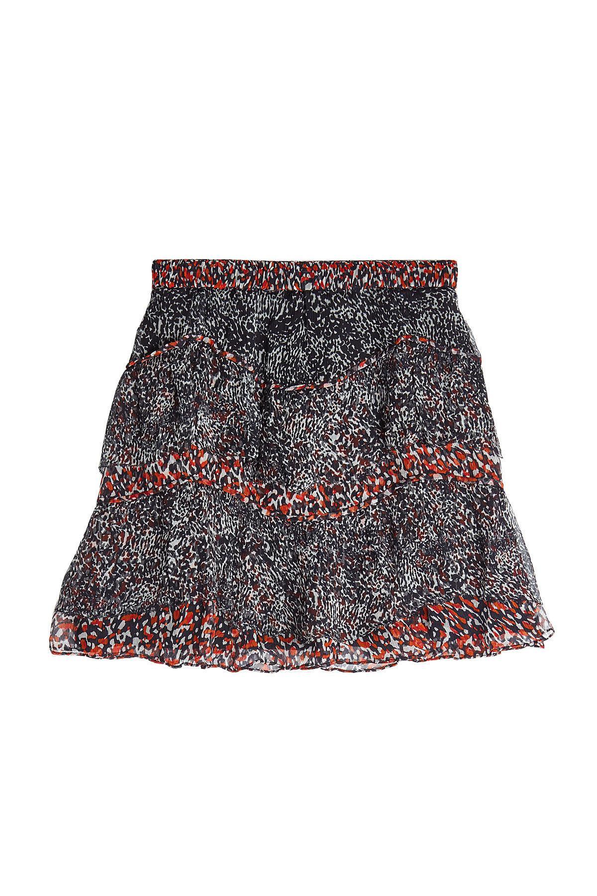 Iro Printed Skirt In Animal Print