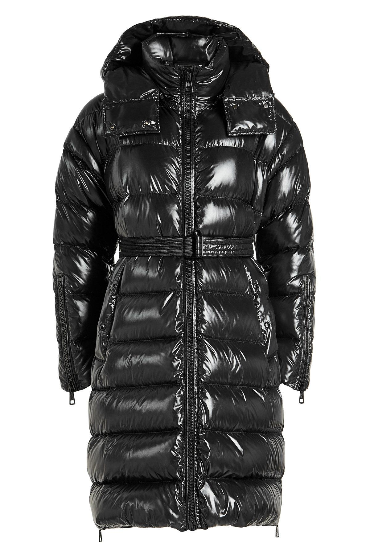 Moncler Amelanchier Quilted Down Coat With Hood In Black