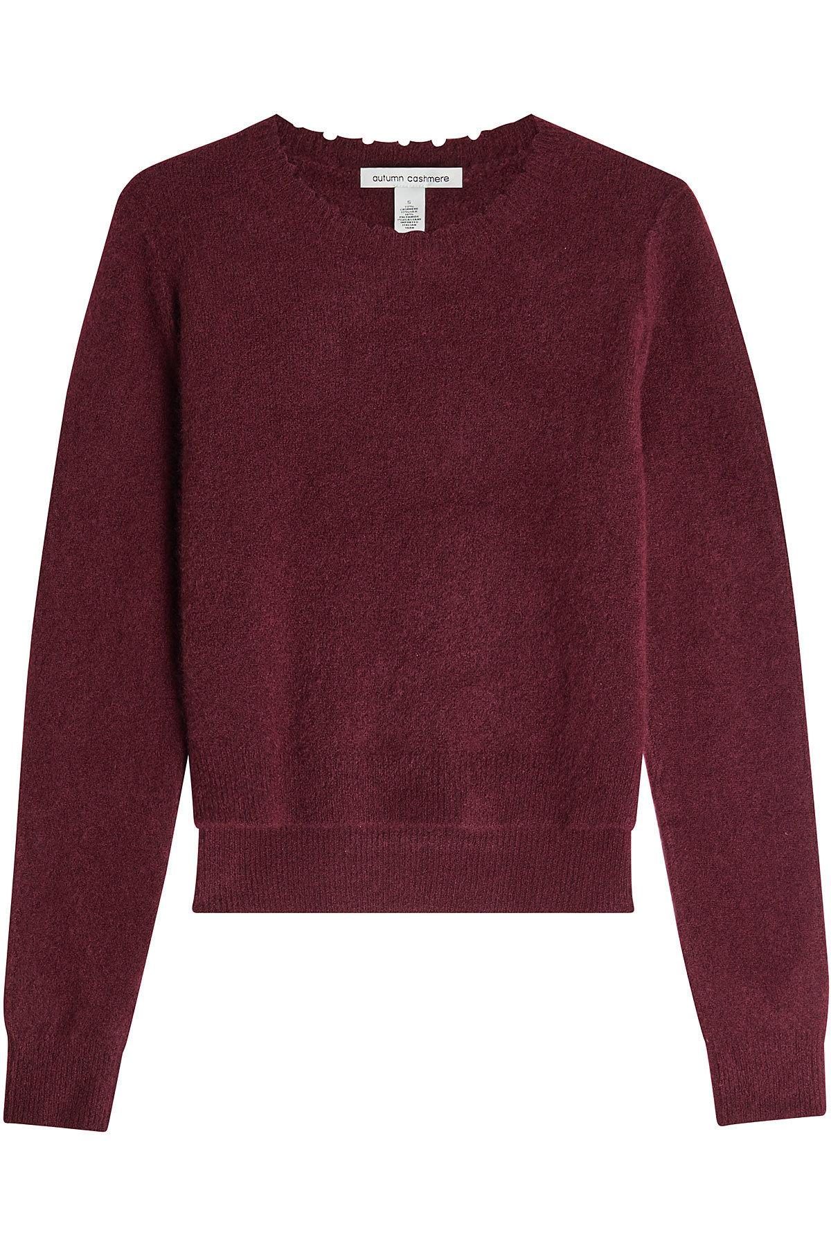 Autumn Cashmere Pullover With Cashmere And Silk In Red