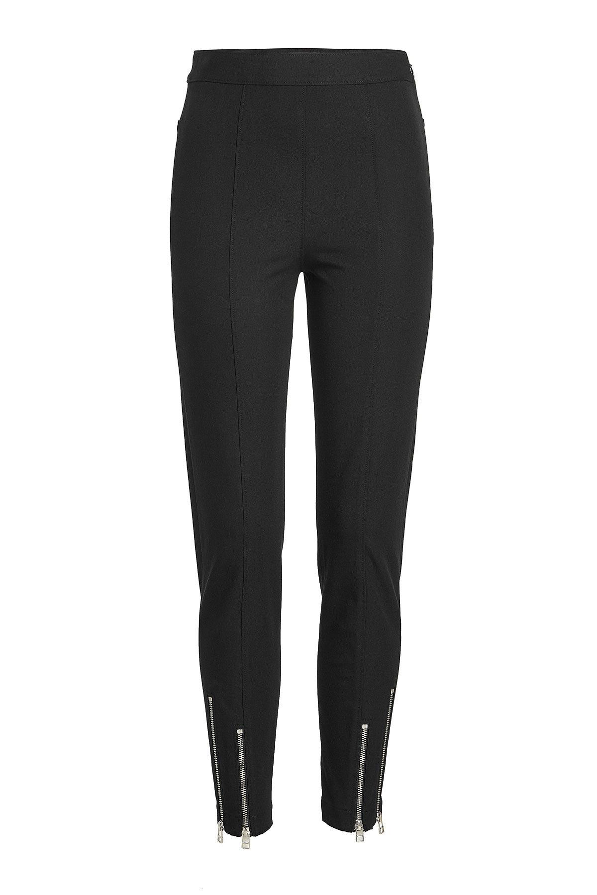 T By Alexander Wang Pants With Zipped Ankles In Black
