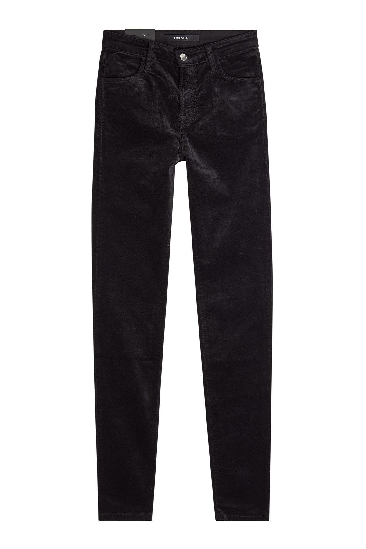 J Brand Velvet Skinny Pants In Black
