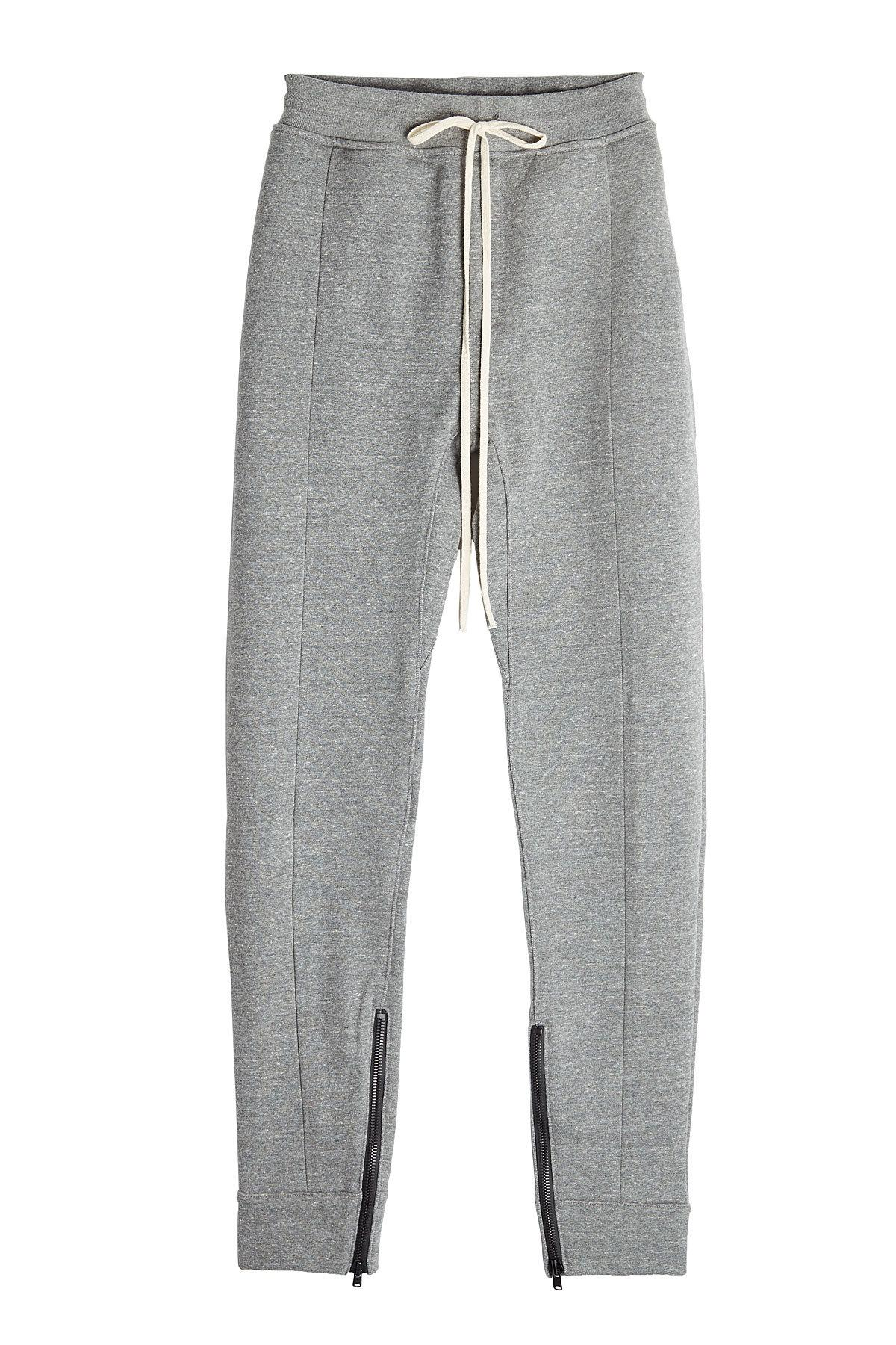 Fear Of God Sweatpants With Zipped Ankles In Grey