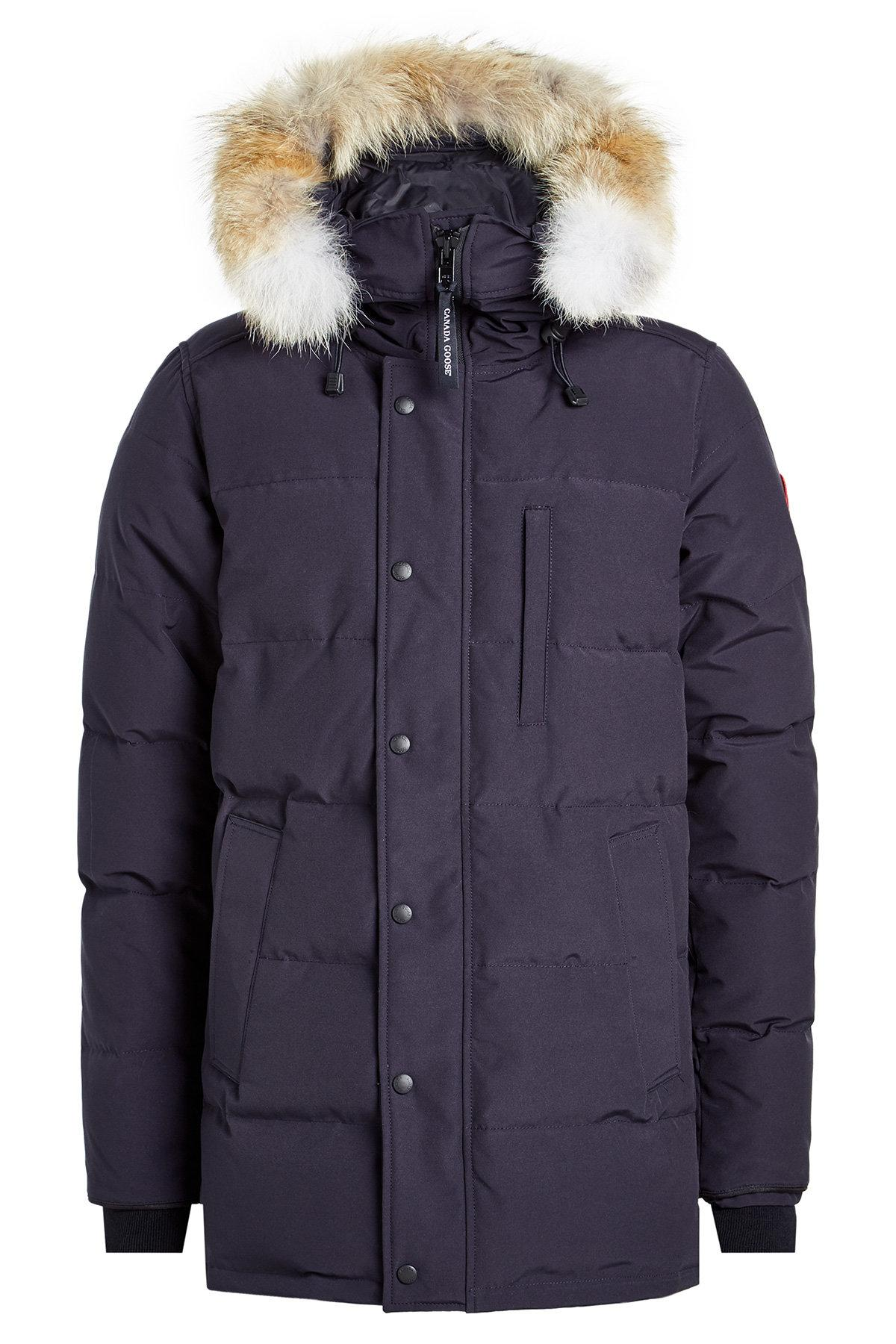 Canada Goose Shelburne Down Parka With Fur-Trimmed Hood In Blue