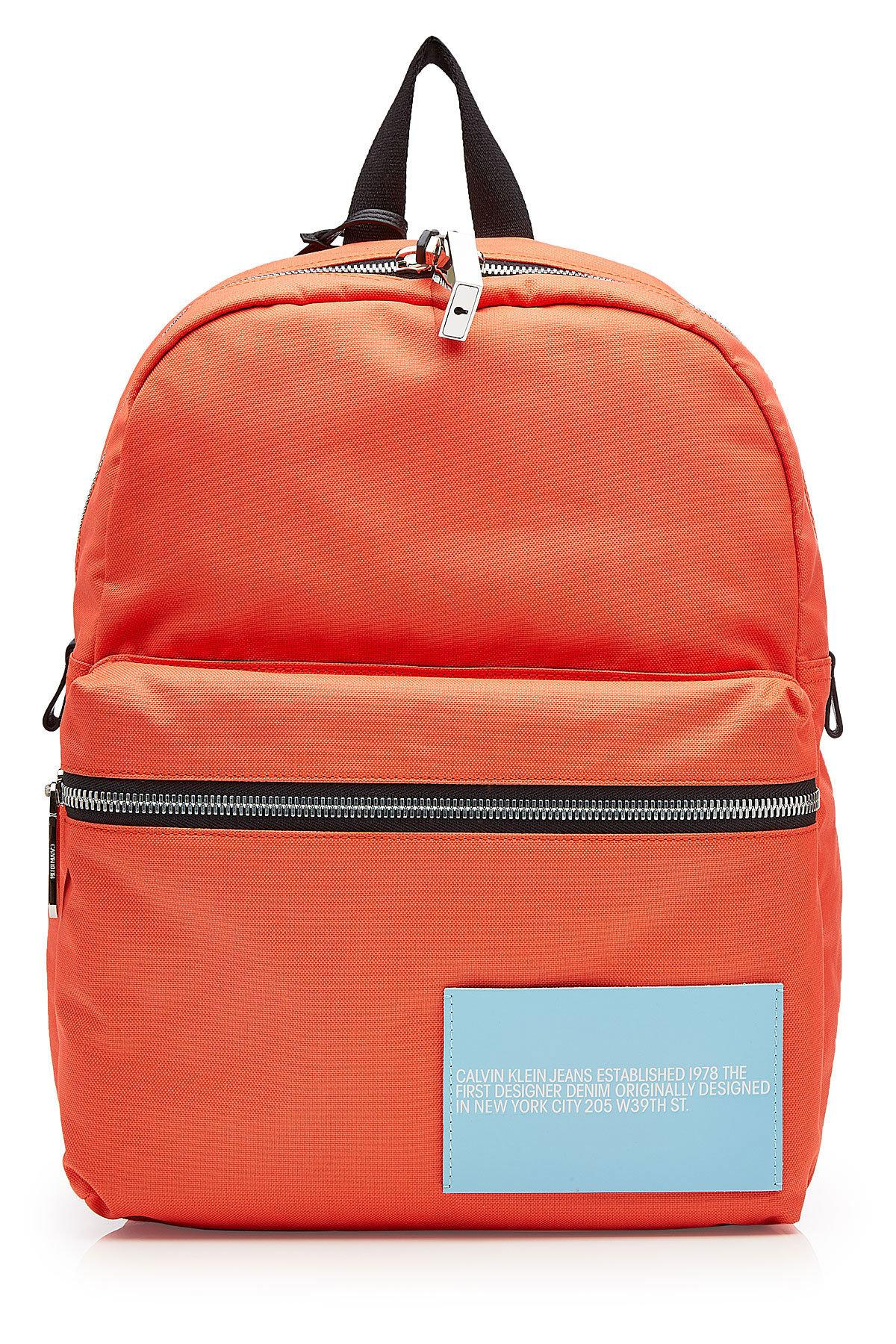 Calvin Klein 205W39Nyc Fabric Backpack In Orange