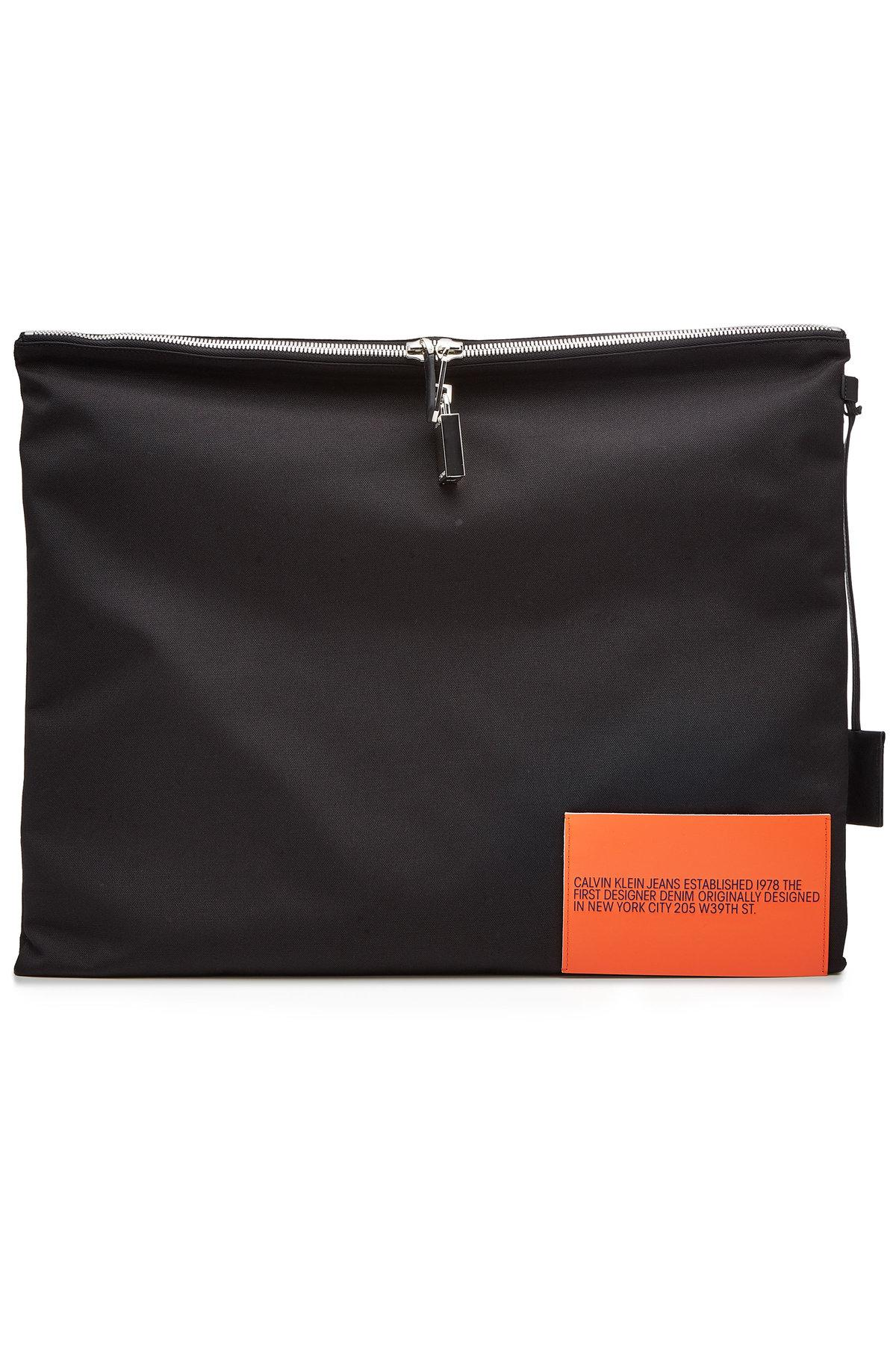 Calvin Klein 205W39Nyc Fabric Pouch In Black