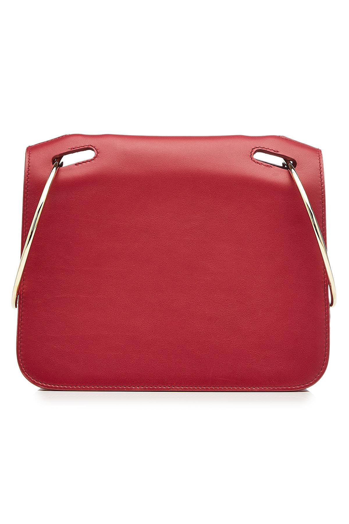Roksanda Leather Shoulder Bag In Red