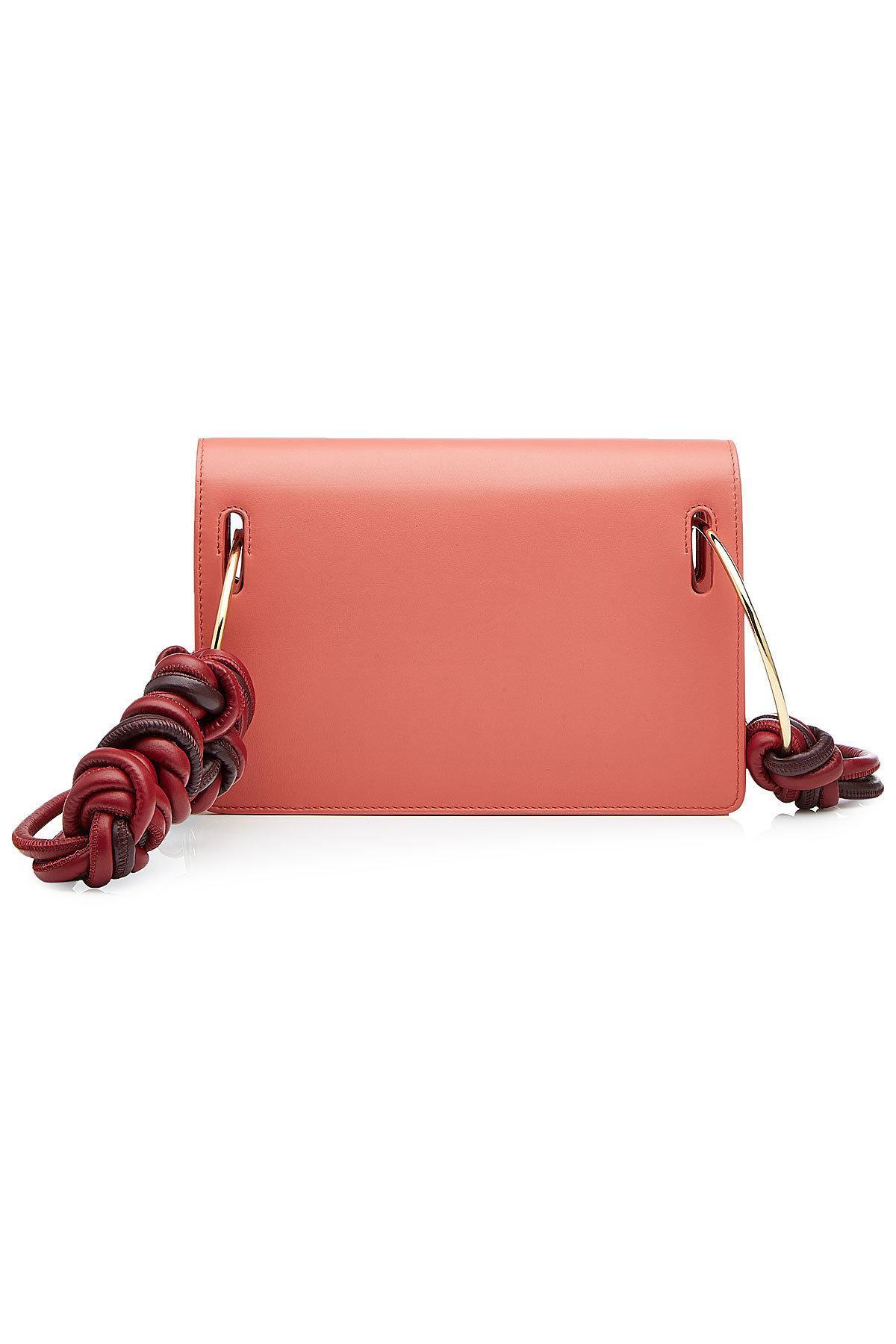 Roksanda Orchid Leather Dia Shoulder Bag In Red