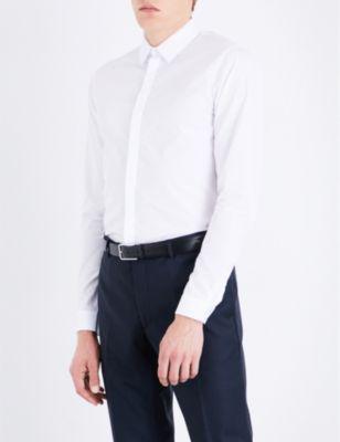 Sandro Slim-Fit Cotton Shirt In White