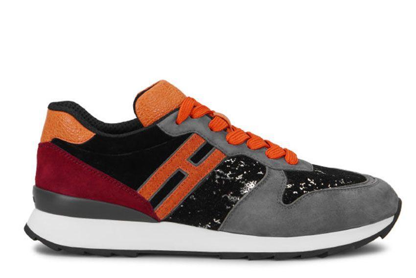 Hogan Running R261 Sneakers In Grey