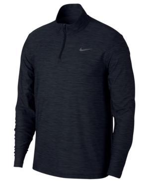 Nike Men's Breathe Quarter-Zip Training Top In Black