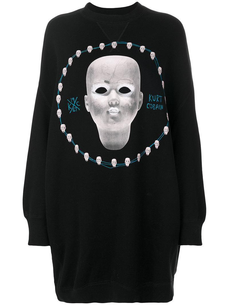 R13 Dollhead Grunge Sweatshirt - Black