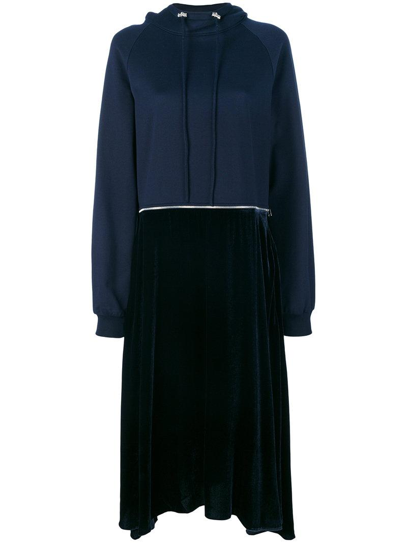 Cedric Charlier Contrast Sweatshirt Dress