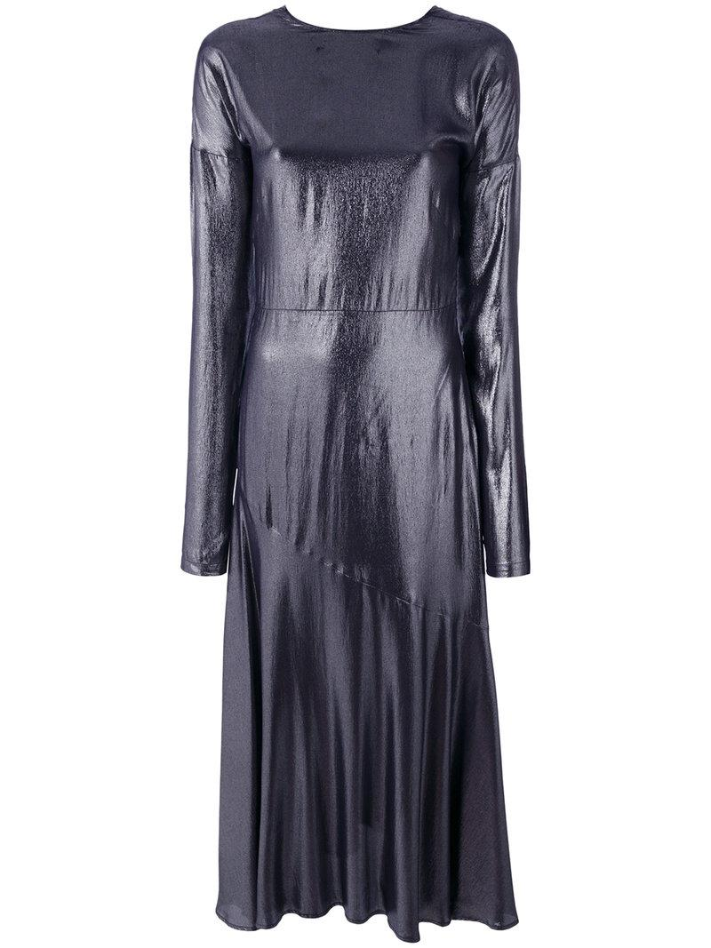 Cedric Charlier Crepe De Chine Long Dress