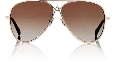 Altuzarra 60Mm Metal Aviator Sunglasses - Rose Gold