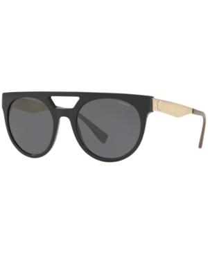 Versace Polarized Sunglasses, Ve4339 In Black/Grey Polar
