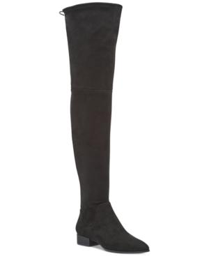 Dkny Tyra Wide Calf Over-The-Knee Boots, Created For Macy's In Black