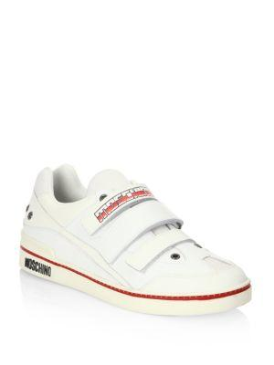 Moschino Low-Top Grip-Tapesneakers In White
