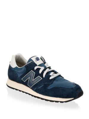 New Balance 520 Hairy Suede Sneakers In Mallard Blue