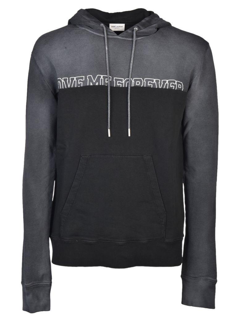 Saint Laurent Printed Sweatshirt In Black