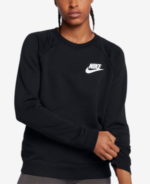 Nike Sportswear Rally French Terry Sweatshirt In Black/White