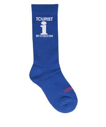 Vetements Tourist Cotton Socks In Blue