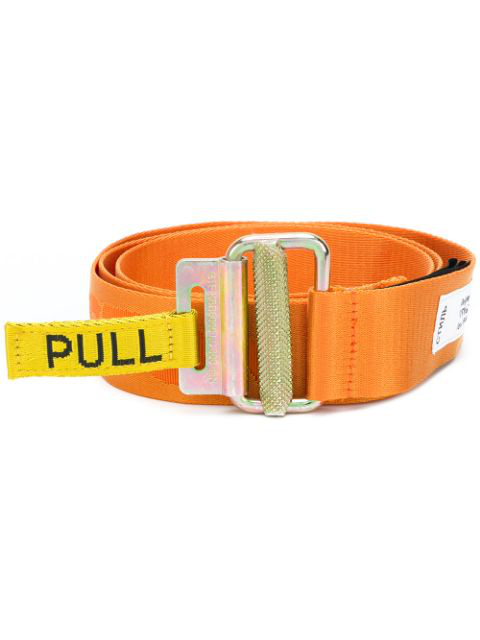Heron Preston 40Mm Logo Jacquard Tape Webbing Belt In Orange