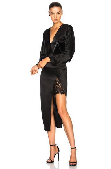 Michelle Mason Obi Dress In Black