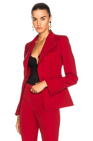 Oscar De La Renta For Fwrd Suit Jacket In Red