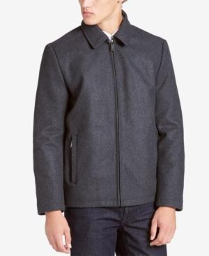 Calvin Klein Men's Big & Tall Open Bottom Coat In Med Grey