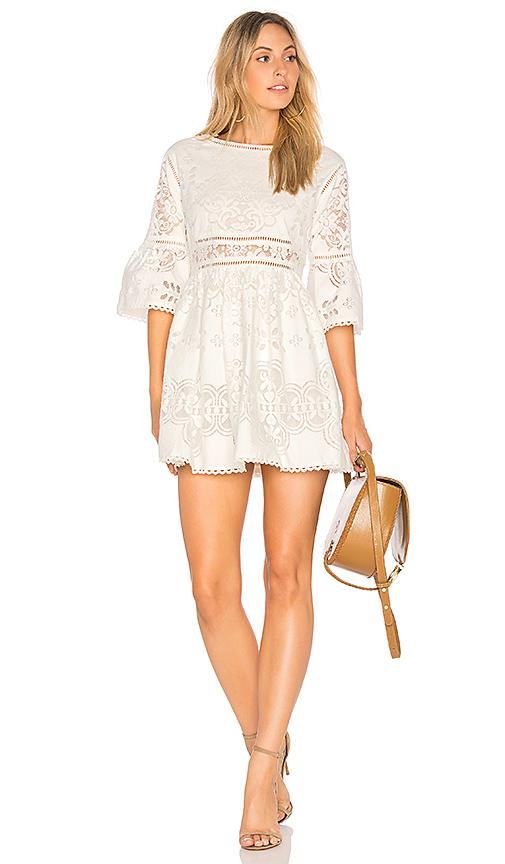Spell & The Gypsy Collective Clover Lace Mini Dress In White