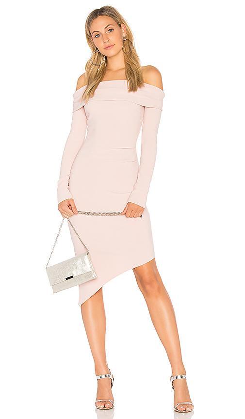 Bec & Bridge Florence Off The Shoulder Dress In Pink
