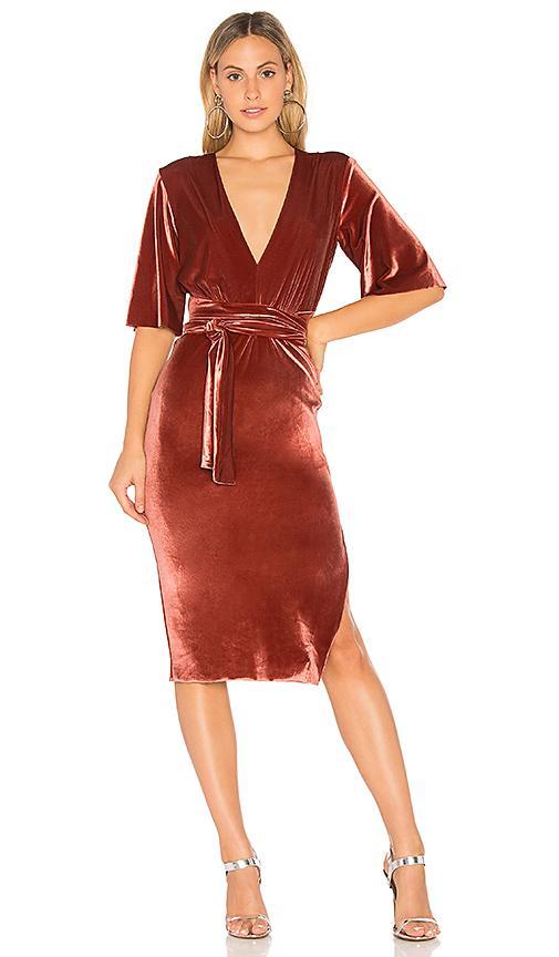Bec & Bridge Ruba Rombic Dress In Red