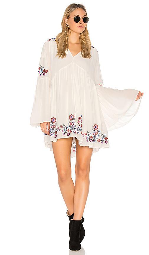 Free People Te Amo Mini Dress In White