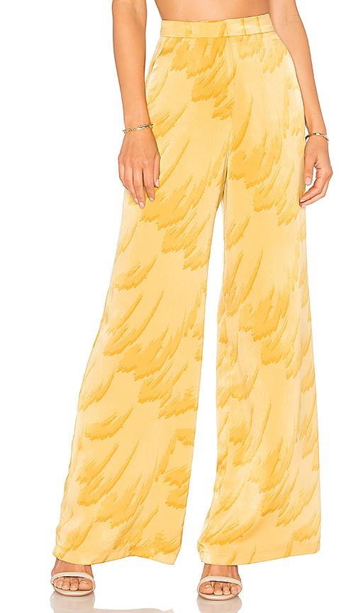 House Of Harlow 1960 X Revolve Mona Pant In Yellow. In Feather Print