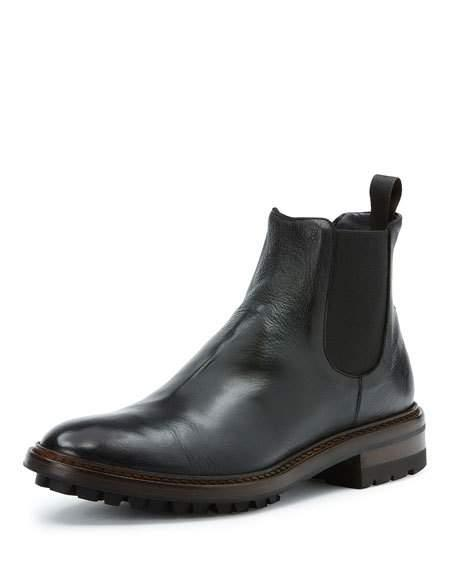 Frye Men's Greyson Leather Chelsea Boot In Black