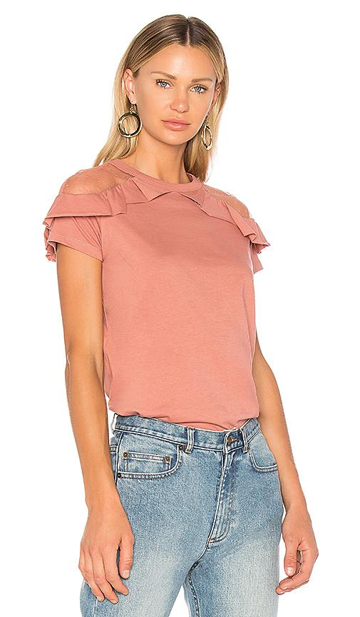 Red Valentino Ruffle Detail Top In Rose
