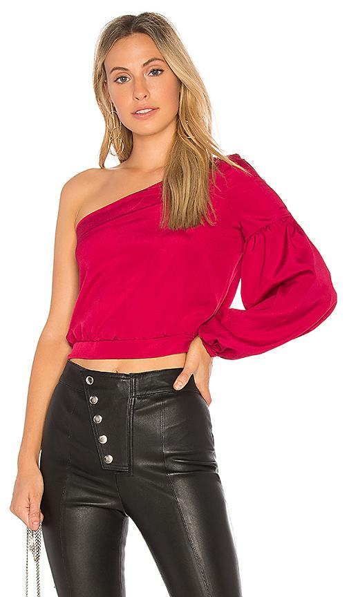 Likely Krissy One Shoulder Top In Ruby