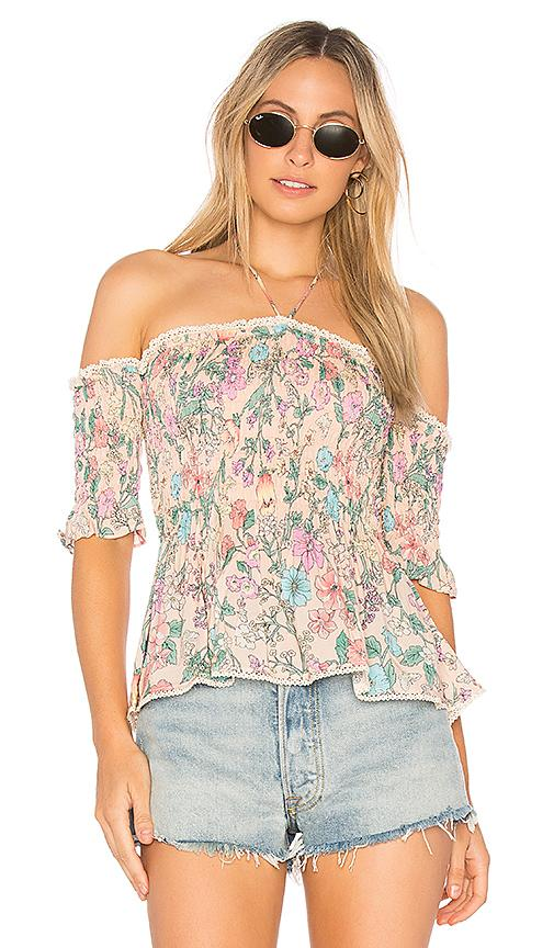 Spell & The Gypsy Collective Sayulita Ruched Cami In Pink