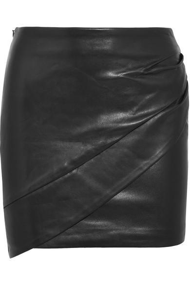 Iro Enmag Wrap-Effect Leather Mini Skirt