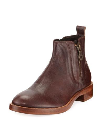 Donald J Pliner Men's Giraldo Side-Zip Leather Chelsea Boot In Brown