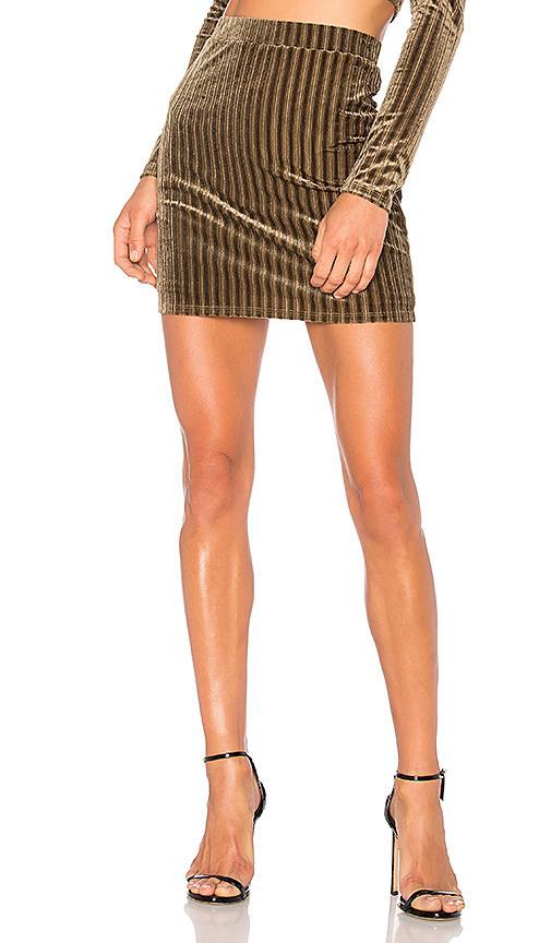 Nbd X Revolve Bri Skirt In Green