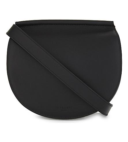 Givenchy Infinity Mini Leather Saddle Bag In Black