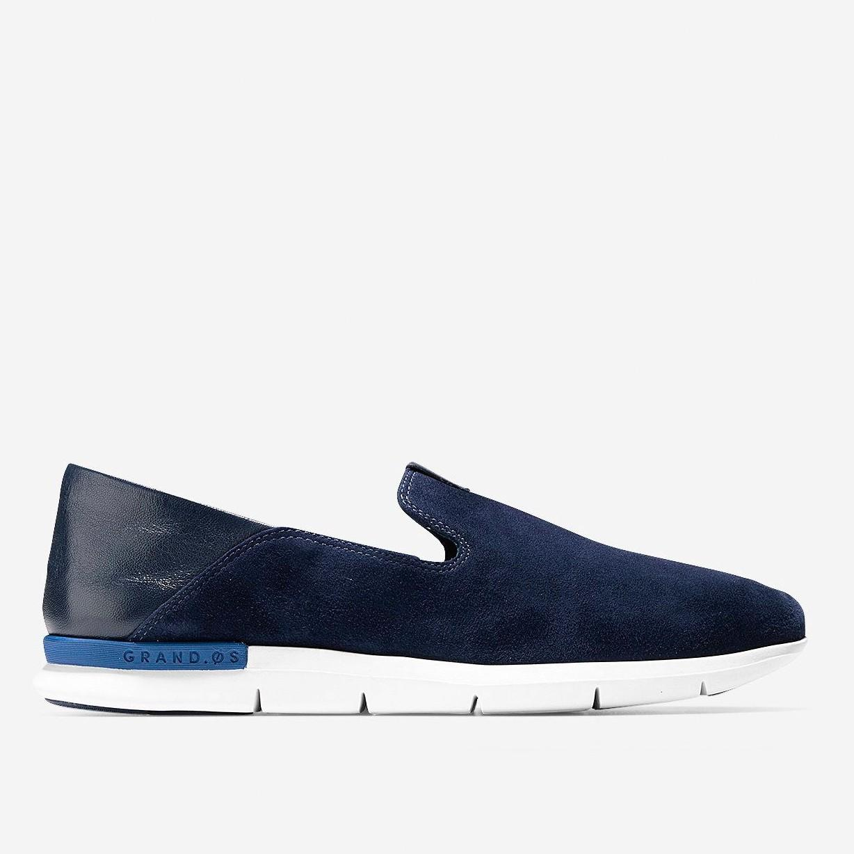 Cole Haan Grand Horizon Slip-On Sneakers, Blue/White In Marine Blue