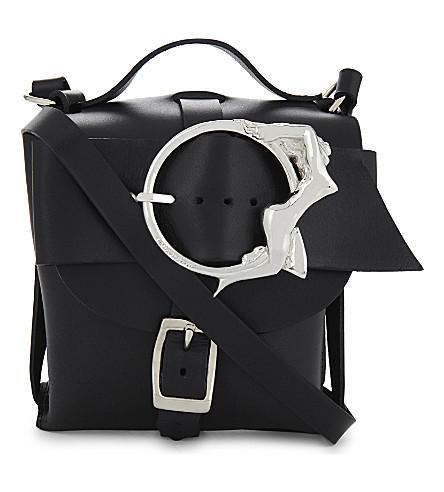 Zana Bayne Mini Signature Cross-Body Bag In Black/Silver