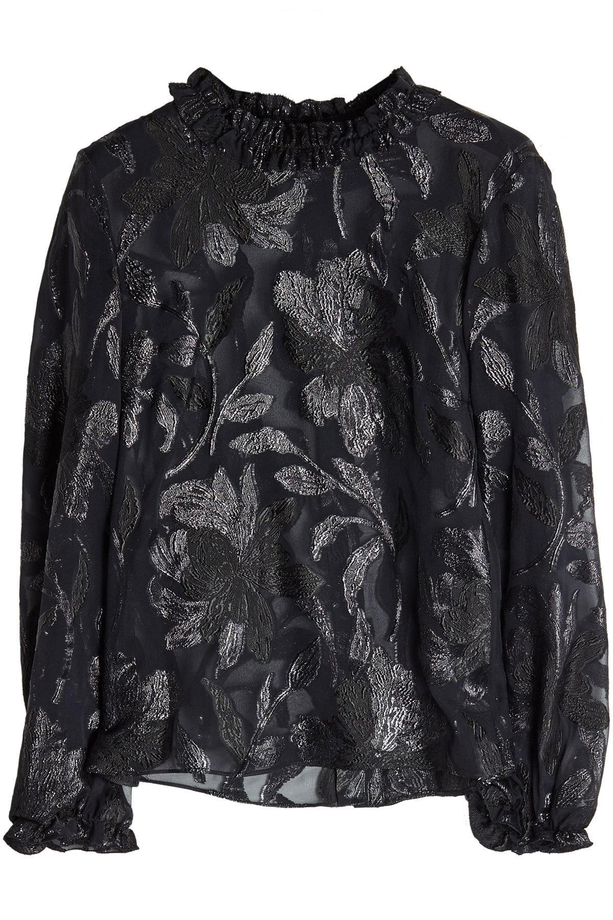 Isabel Marant Blouse With Metallic Thread In Black